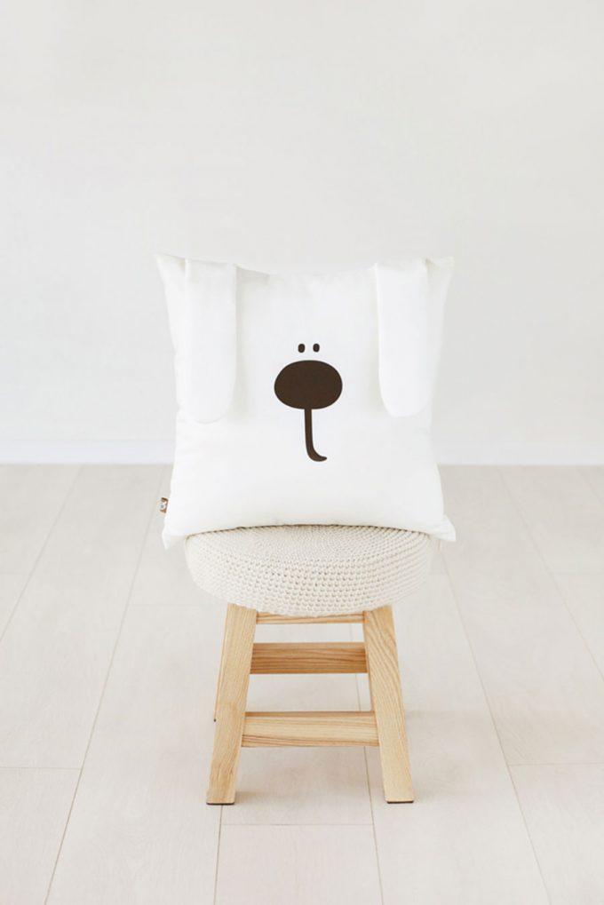 funny bunny pillow